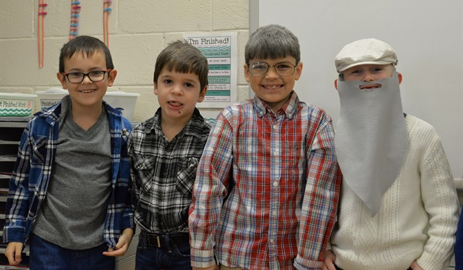 Students at AES celebrate the 100th day of school!