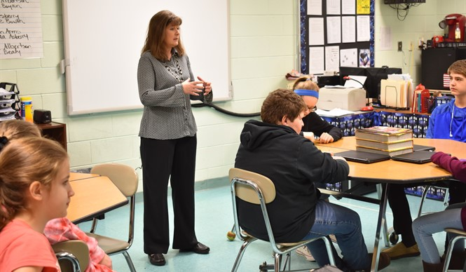 CCMS students were introduced to real jobs by community volunteers at Career Day.
