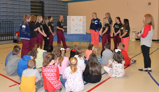 Students at AES learned about dental care, good nutrition, hand washing, heart health, sugar & the body, and water safety at the annual Health Fair.