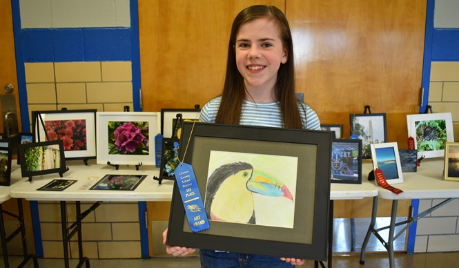 The 10th annual Gifted & Talented Art Show featured submissions from students at AES, CCMS, and CCHS in the categories of photography, paintings, drawings, and sculpture.
