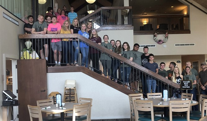 The Clinton County High School Breakfast Club enjoyed breakfast together at Dale Hollow Lake State Park.