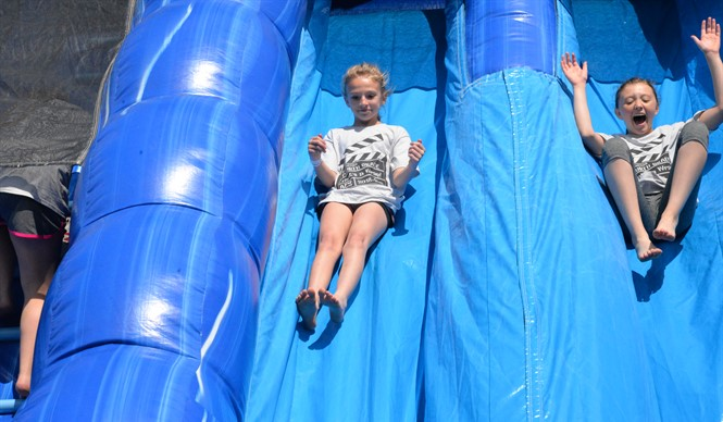"The faculty and staff at AES always make the 4th Grade Bash an exciting and memorable day for the ""senior"" students."