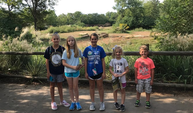 Gifted & Talented students visit the Nashville Zoo on the first field trip of the year!