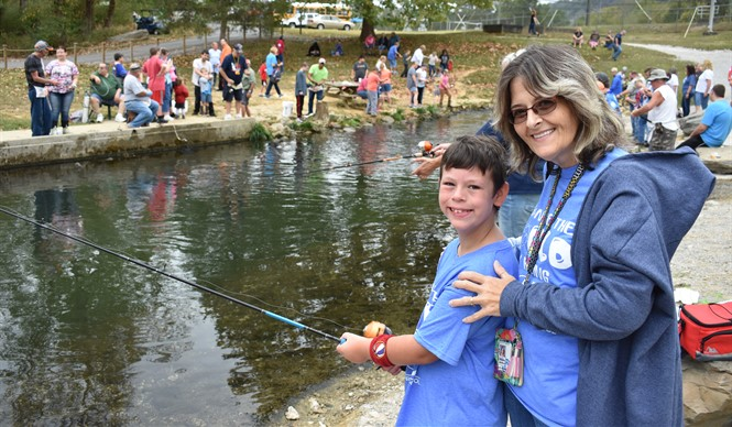Students always enjoy the annual Reaching for Rainbows Fishing Derby at Wolf Creek National Fish Hatchery.
