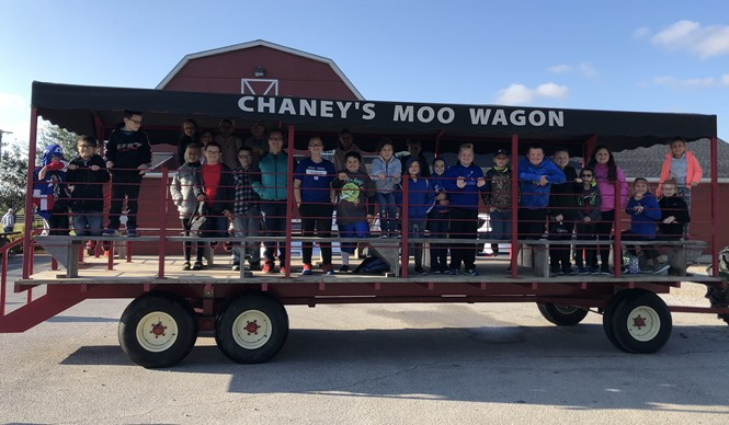 Gifted & Talented students at AES were transported to Chaney's Dairy Barn to see their state-of-the-art robotic milker!