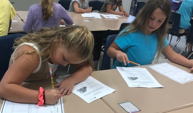 Third grade students in Ms. Mindie Anderson's and Mrs. Samantha Blackaby's classes study the Great Depression.