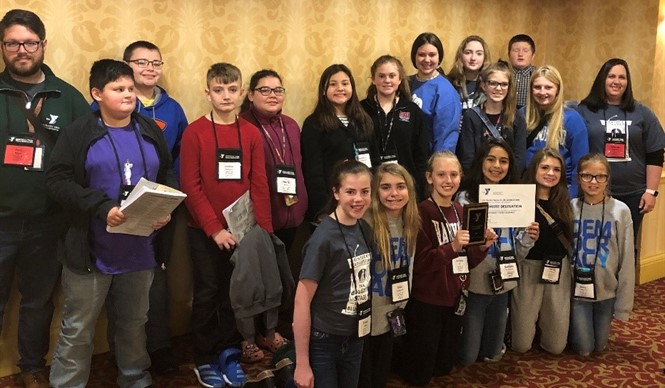 The CCMS Y-Club received an award for Premiere Delegation at the Kentucky Youth Assembly in Louisville.
