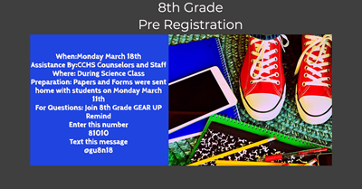 8th Grade Registration
