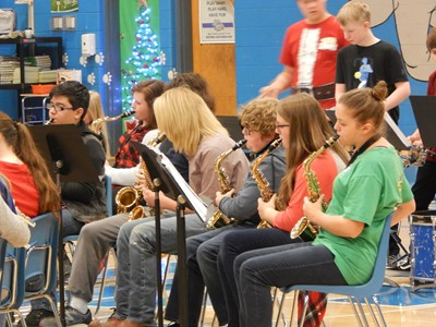 The Clinton County Middle School Band performed at CCMS on Friday, December 15th for the students before leaving for their Christmas Break.