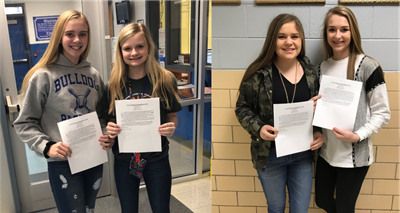 Congratulations to CCMS Lady Bulldogs Landree Moons & Ashton Daniels and CCHS Lady Bulldogs Abby Young & Braylee Mann on being selected to participate in the SOUTH KY PREP ALL-STAR basketball games on April 6th!