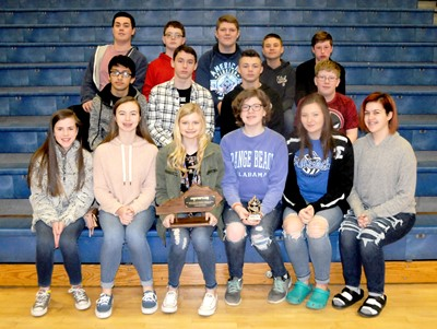 The Clinton County Middle School Academic Team won 1st place at the District Governor's Cup Competition on January 19th!