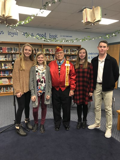 "Medal of Honor winner Hershel ""Woody"" Williams visited CCMS on Friday, November 16th."