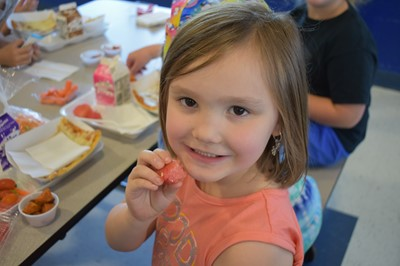 Students at ECC and AES had the opportunity to try roasted sweet potatoes and watermelon during Try Day on Tuesday, May 8th.