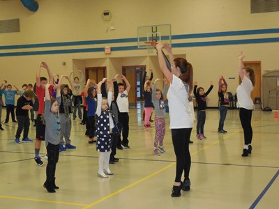 On Thursday, November 12th, students at AES, CCMS, and CCHS participated in the Day of Dance workshop with the Louisville Ballet Outreach Program.