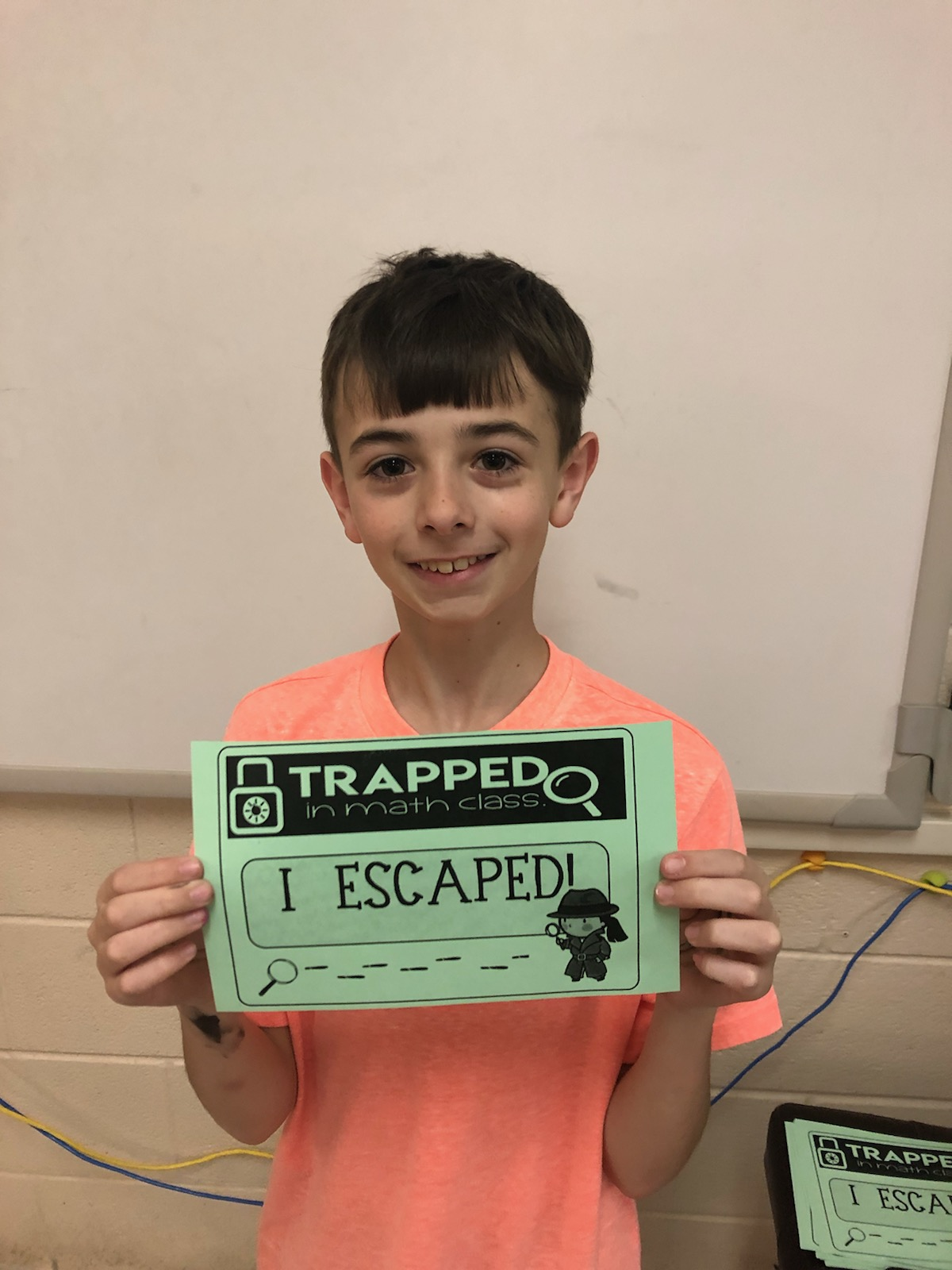 "On April 16, 2019, Albany Elementary School hosted a ""Trapped in Math Class"" themed Family Math and Literacy Night."