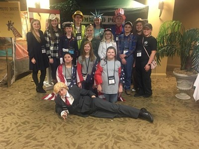 The Clinton County Middle School KUNA students attended the Kentucky United Nations Assembly at the Galt House in Louisville on March 5-7, 2017.