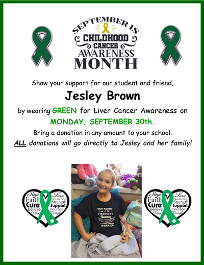Wear Green for Jesley