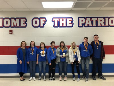 The CCHS Academic Team (grades 9-10) participated in the Section 5 JV Challenge on Saturday, November 9 at Allen County Scottsville High School.