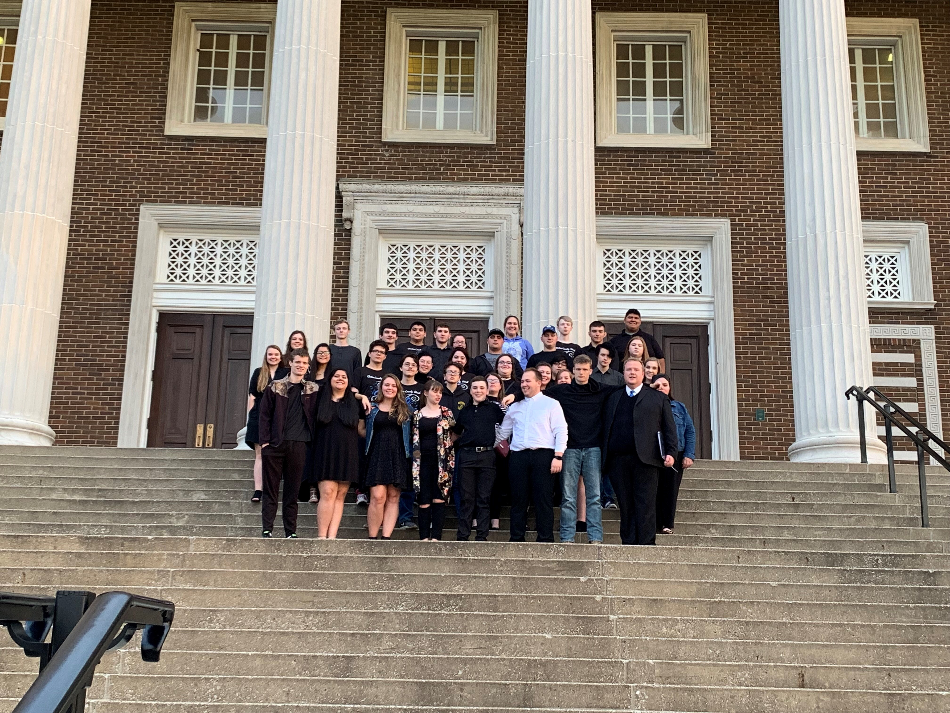 The Clinton County High School band performed at KMEA Concert Assessment at Western Kentucky University in Bowling Green on Friday, April 12th.