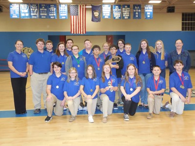 The Clinton County Middle School Academic Team won first place at the District 46 Middle School Governor's Competition on Saturday, January 21st.