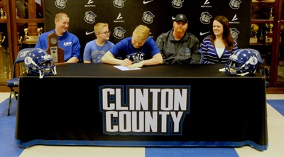 Congratulations to CCHS senior Parker Tallent on signing with Lindsey Wilson College!