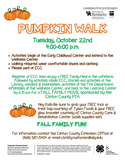 Pumpkin Walk Flyer 2019