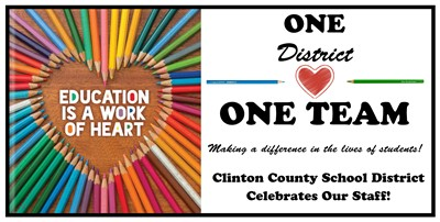 Clinton County School District is celebrating the fabulous teachers and staff who make our schools great this week!