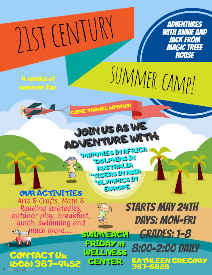 21st Century Summer Camp begins on May 24th!