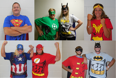 Superheroes was the theme for the Clinton County School District Opening Day 2017.