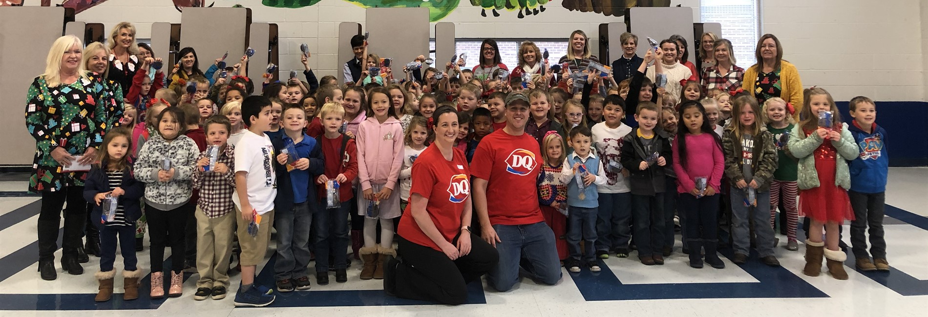 ECC celebrated 100% attendance with Dilly Bars from Albany Dairy Queen!