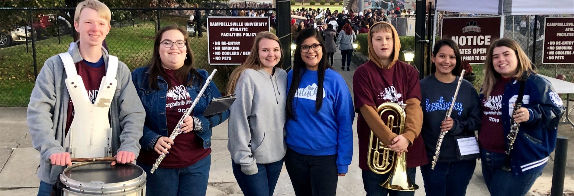 CCHS band members had a great time at Campbellsville University's Band Day!