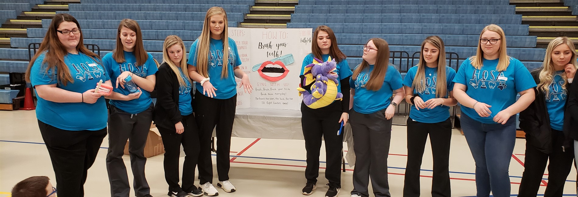 Southern Kentucky Early College & Career Academy Health Science students assisted with the annual Health Fair at AES.
