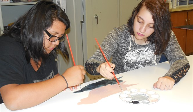 CCHS art students assist BAFA with set design for their upcoming show.
