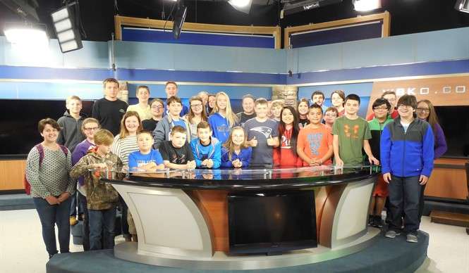 CCMS & CCHS Gifted & Talented students visit WBKO television studio.