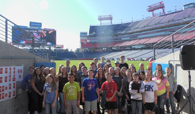 CCMS & CCHS Gifted & Talented students visit Tennessee Titans Learning Lab.