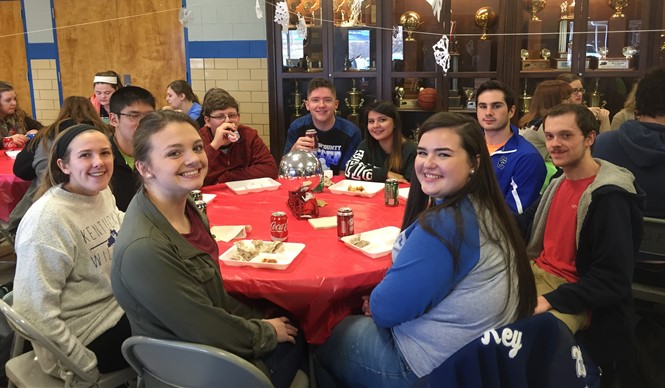 College and Career Ready students at CCHS enjoy a Christmas party.