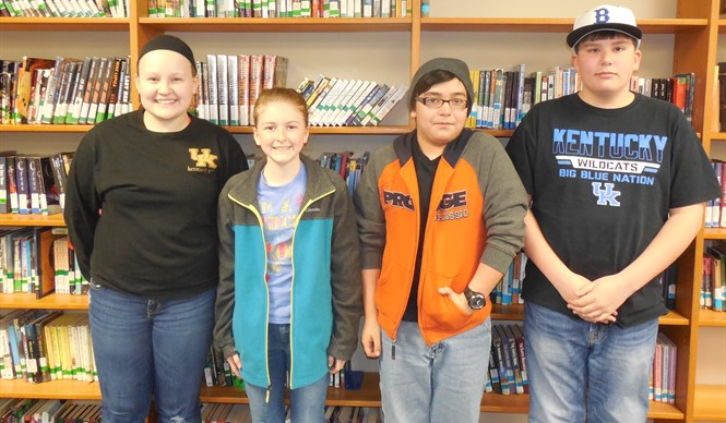 CCMS students Katie Thurman, Makenzie Cope, Eli Rains, and Evan Claborn won the 7th & 8th grade Battle of the Books competition.