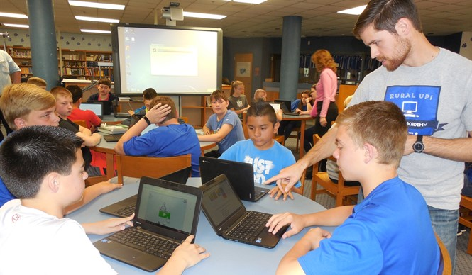 Gifted & Talented students at CCMS participate in Rural Up! Code Academy.