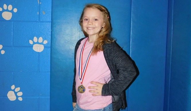 CCMS 5th grader Saylor Burchett won the Grandparent of the Year Essay Contest.