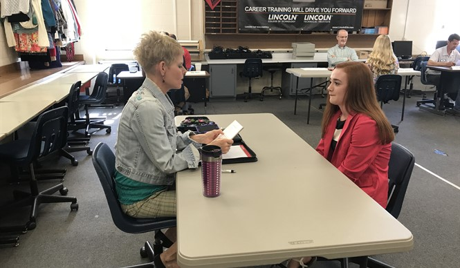 CCHS juniors participate in mock interviews at CCATC on May 15th.