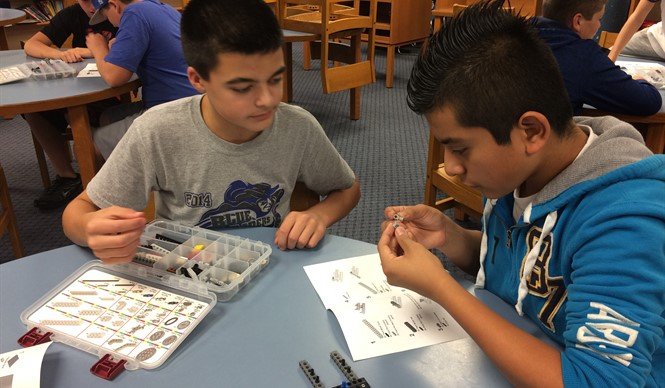 Gifted & Talented students participate in a STEM workshop using LEGO® blocks during an outreach program with Bricks 4 Kidz.