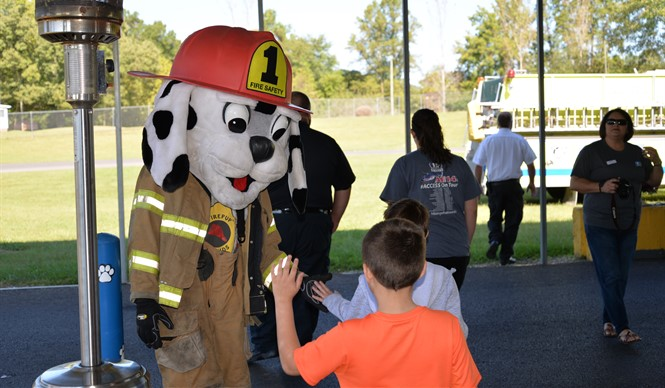 Firepup® visited AES during Fire Safety Day.