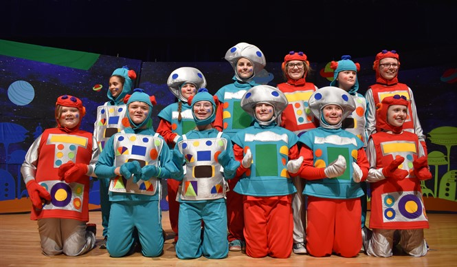 The Robots of Lapunta from Missoula Children's Theatre production of Gulliver's Travels.