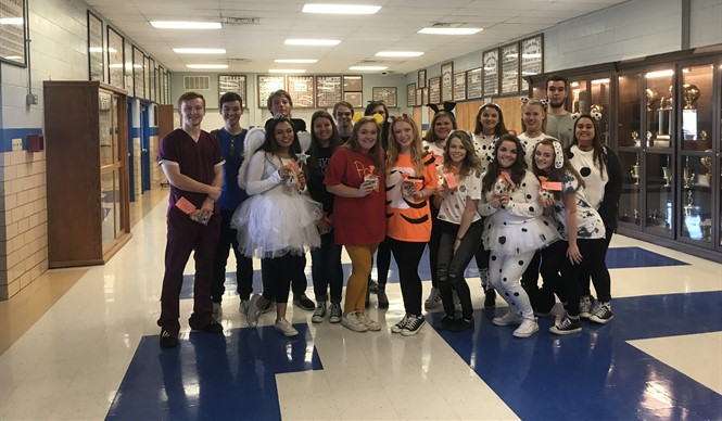 College and career ready students at CCHS received a treat bag on Halloween.