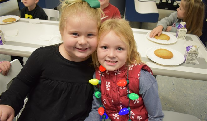 CCHS hosted the kindergarten for milk and cookies before Christmas.