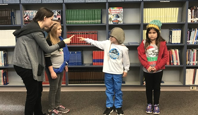 AES students participate in a Kentucky Shakespeare Outreach Program.