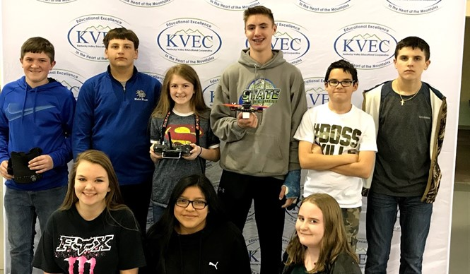 CCMS 7th & 8th Grade Drone Club participates in KVEC 2nd Annual Drone Race.