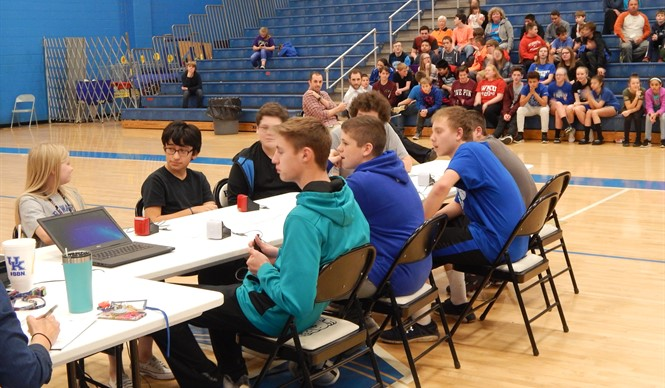 The 7th and 8th grade teams square off in the final round of the Middle School Challenge.