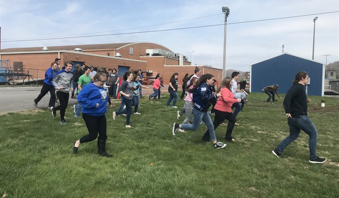 CCHS students who are College and Career Ready were rewarded with an Easter luncheon and egg hunt.