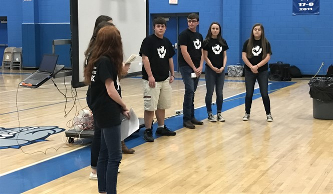 The local GEAR UP PALS students recently presented their community project on hate crime awareness.